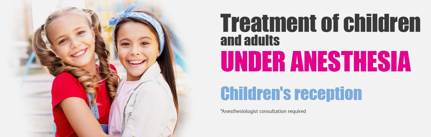Treatment of children and adults under anesthesia
